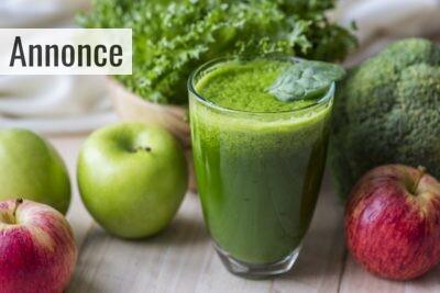 Juicer med smoothie som er flydende energi