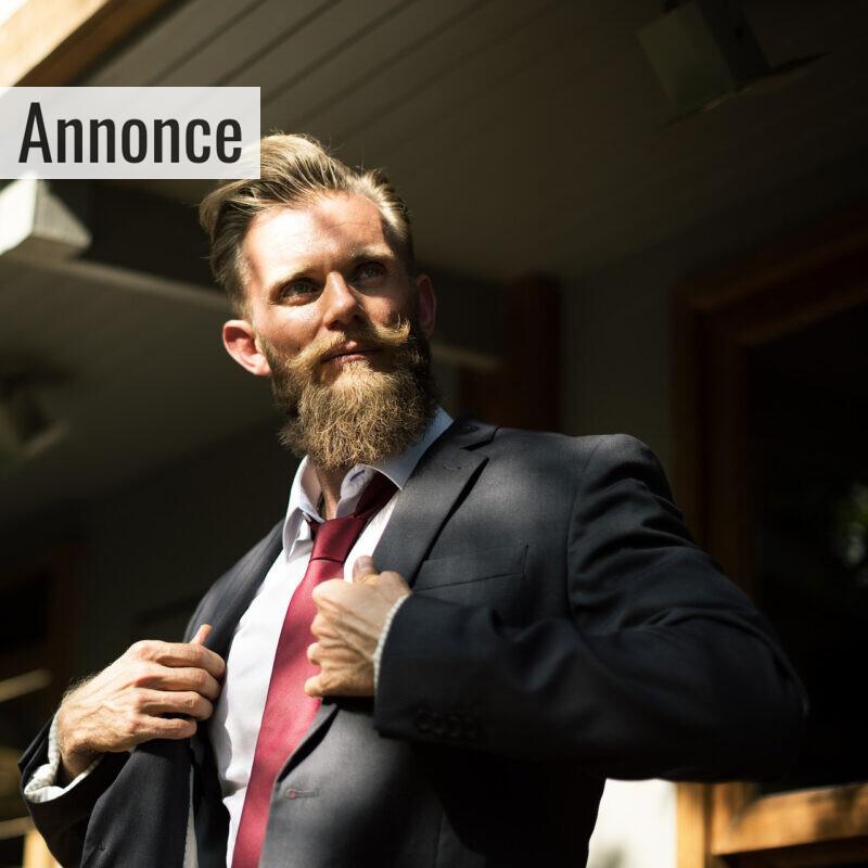 mand med skæg